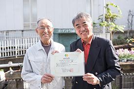 代表の宮田さん(左)と