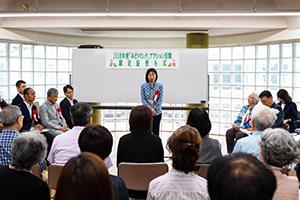 世田谷区北沢総合支所長の高木さんからは、これからもみなさま方と共に様々な活動をさせていただければとのお言葉を